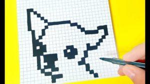 Рисунки по клеточкам собака - маленькая для начинающих по клеточкам
