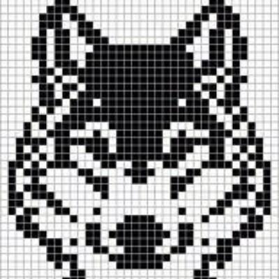 Рисунко по клеточкам-Собаки - Хаска