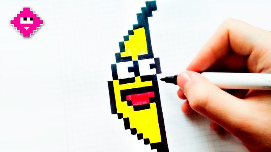 Как нарисовать Банан по клеточкам