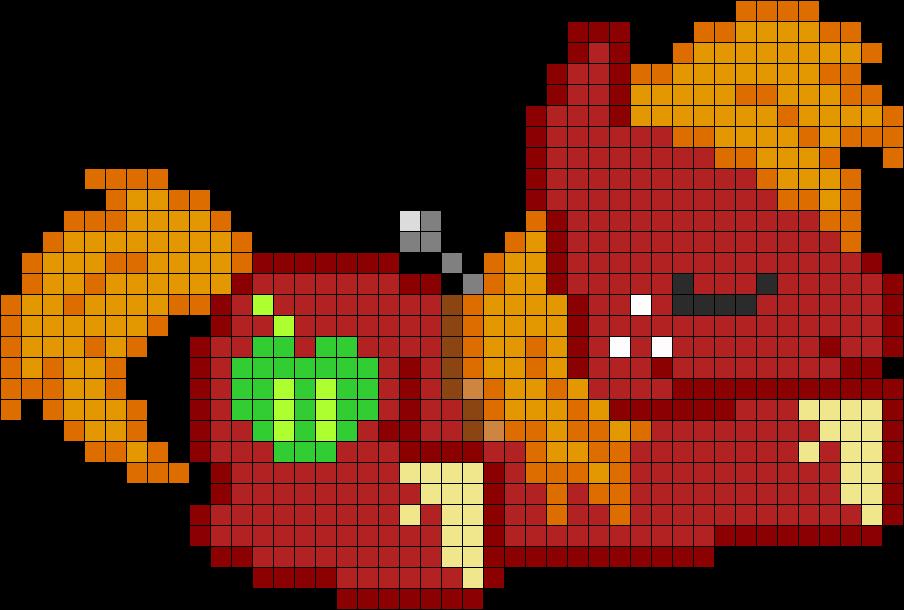Большой Макинтош(Big Macintosh) по клеточкам