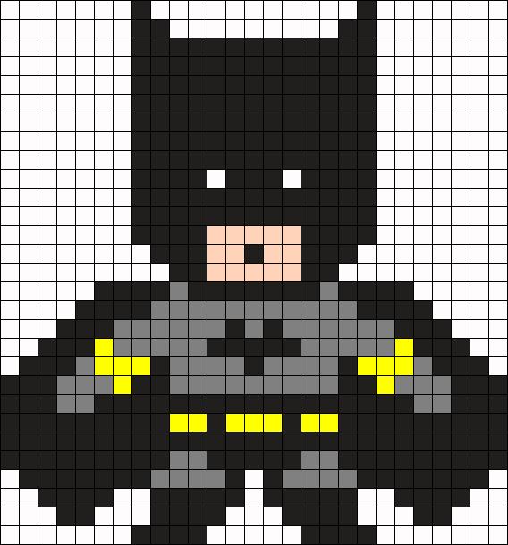 рисунки по клеточкам для Мальчиков - Бэтман