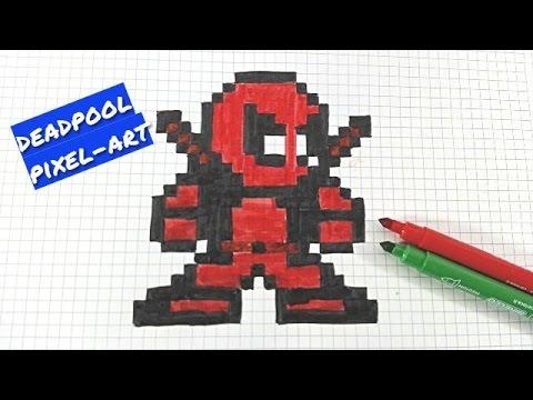 Рисунки по клеточкам для Мальчиков   - 9 лет Дэтпул