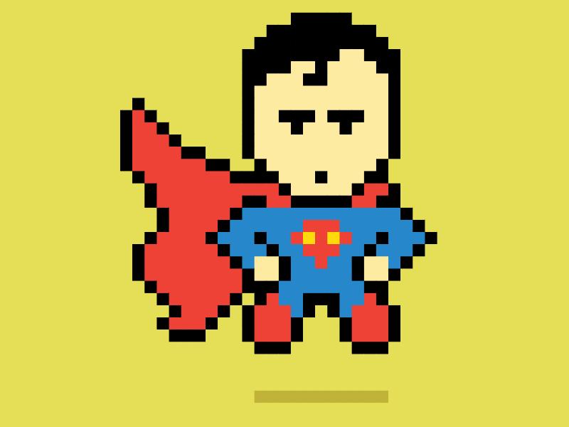 Рисунки по клеточкам Супермен  для Мальчиков