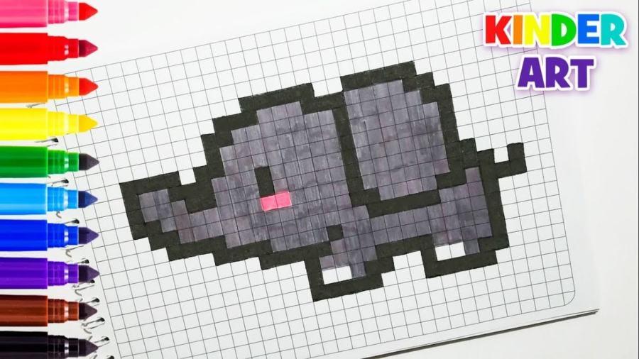 Как нарисовать слона по клеточкам