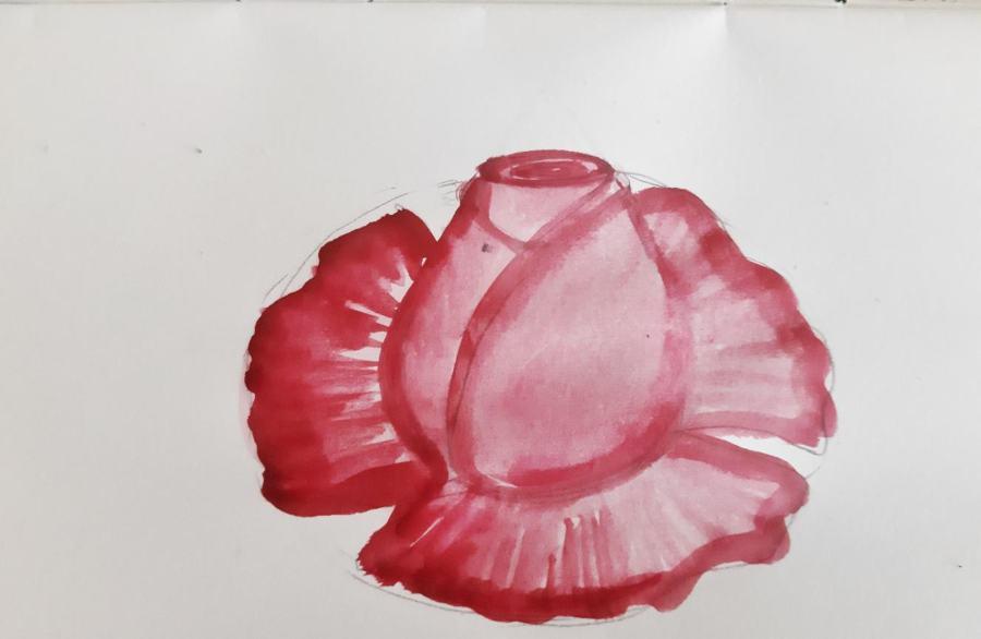 Как нарисовать розу поэтапно кисточками