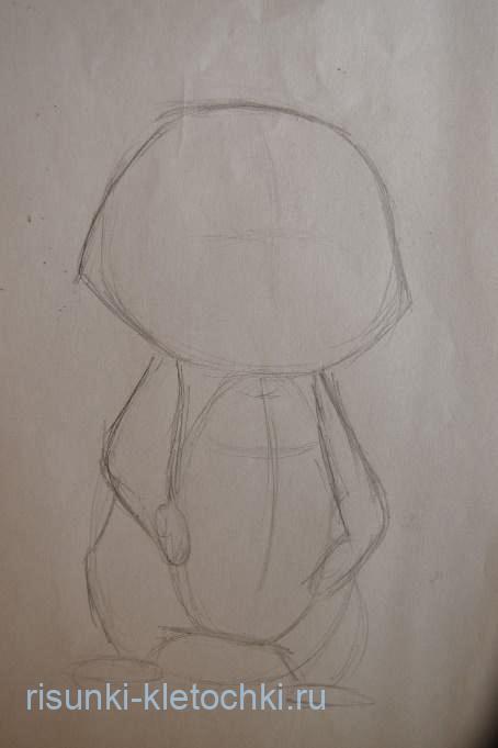 Как нарисовать милого Енота поэтапно