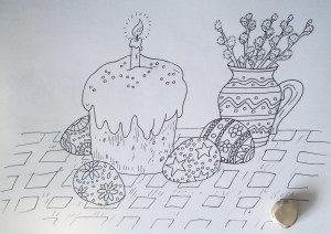Картинки для срисовки на Пасху