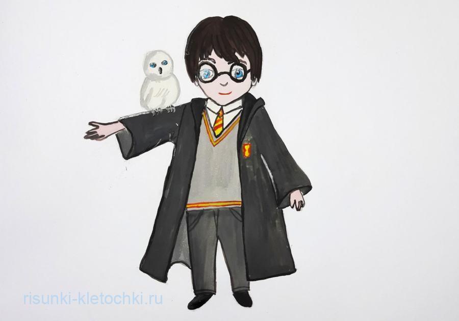 Как нарисовать Гарри Поттера поэтапно