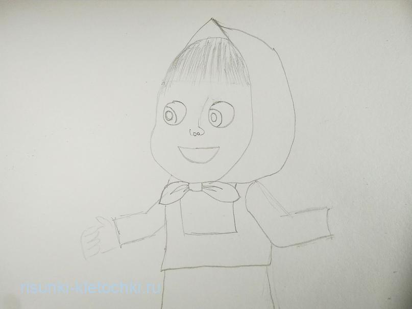 Как нарисовать Машу и медведя поэтапно   карандашом