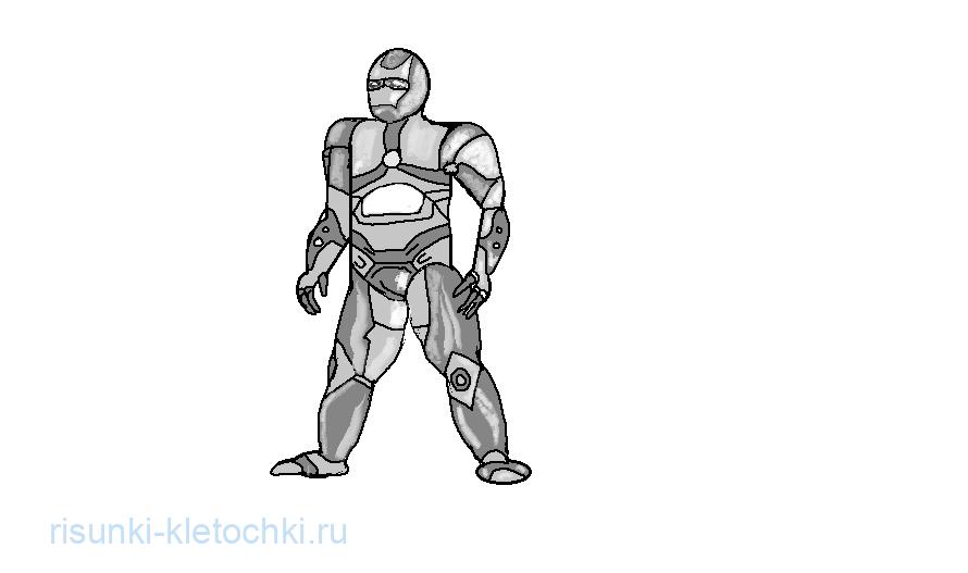 Как нарисовать железного человека поэтапно в паинте