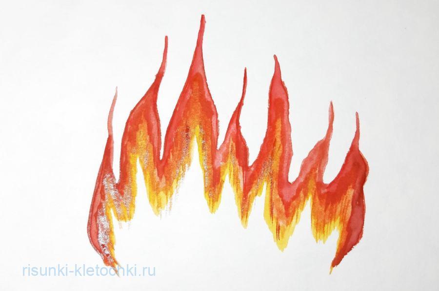 Как нарисовать огонь поэтапно на компьютере