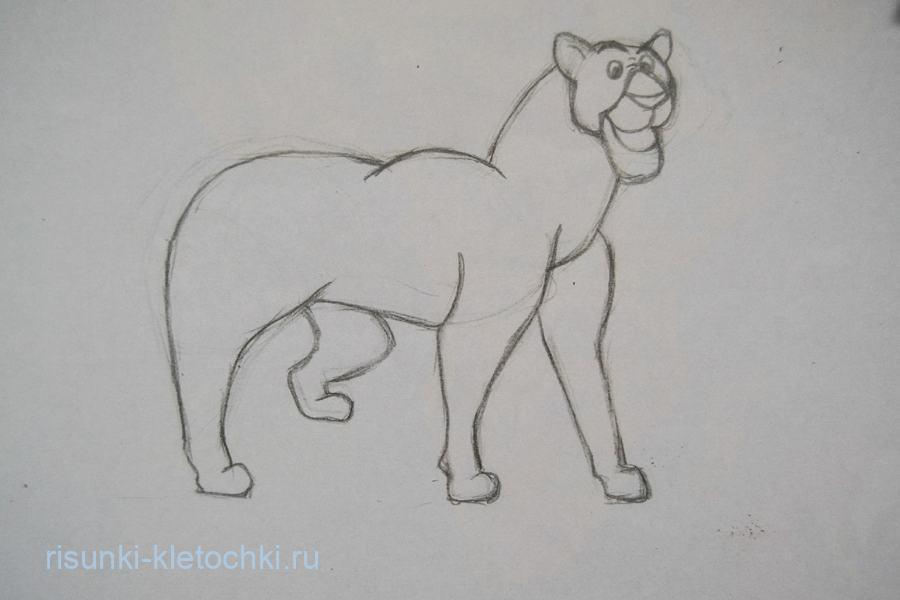 Как нарисовать пантеру карандашом