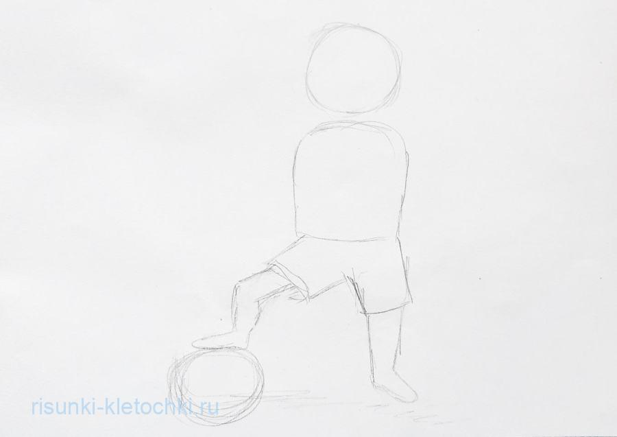 Как нарисовать футболиста поэтапно. карандашом