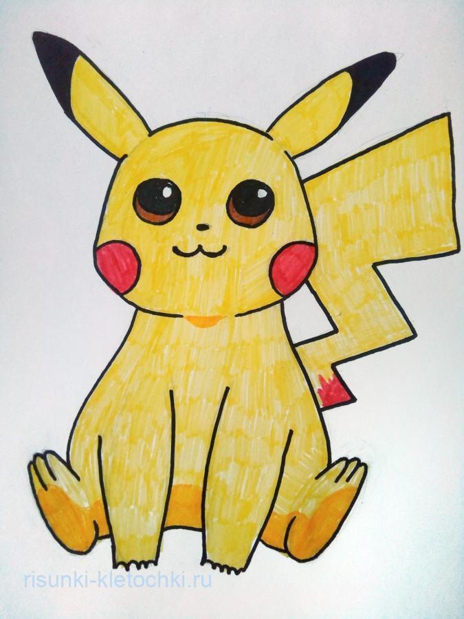 Как нарисовать Пикачу поэтапно карандашом