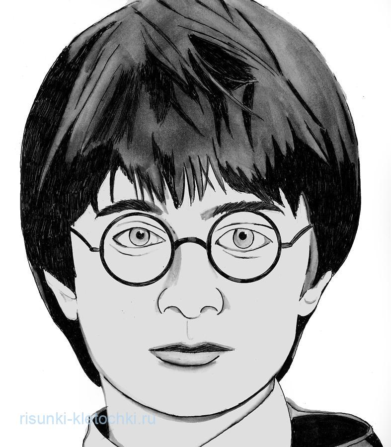 Гарри-Поттер-простые-картинки-для-срисовки