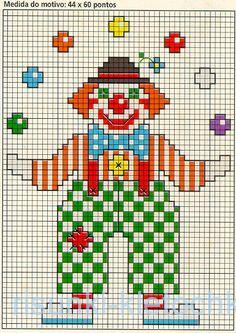 Как нарисовать клоуна по клеточкам