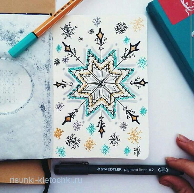 Снежинка по клеточкам в ЛД