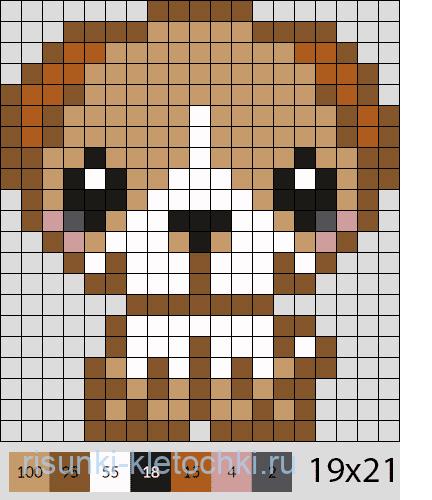 Как нарисовать собаку по клеточкам в тетради