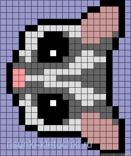 рисунки по клеточкам маленькие животные 4