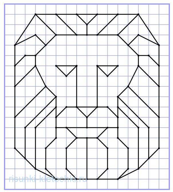 рисунки по клеточкам ручкой в тетради