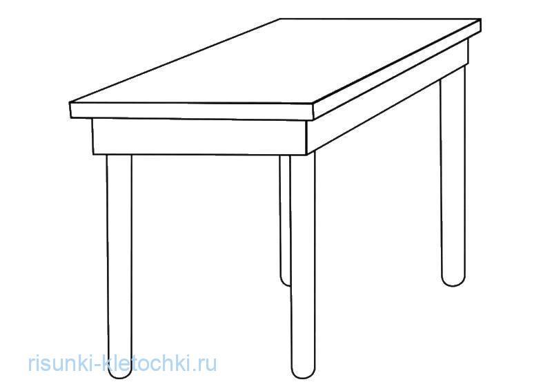 Раскараска для детей стол прямоугольный