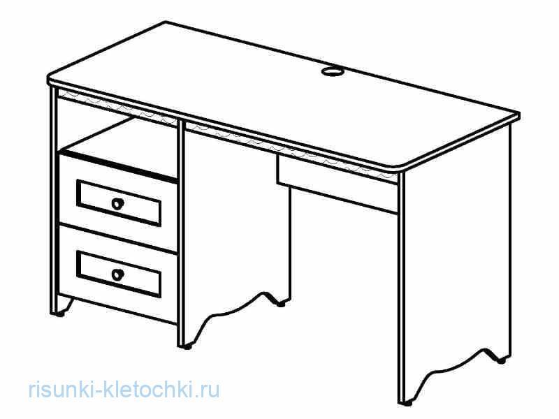 Раскраски  - письменный сто