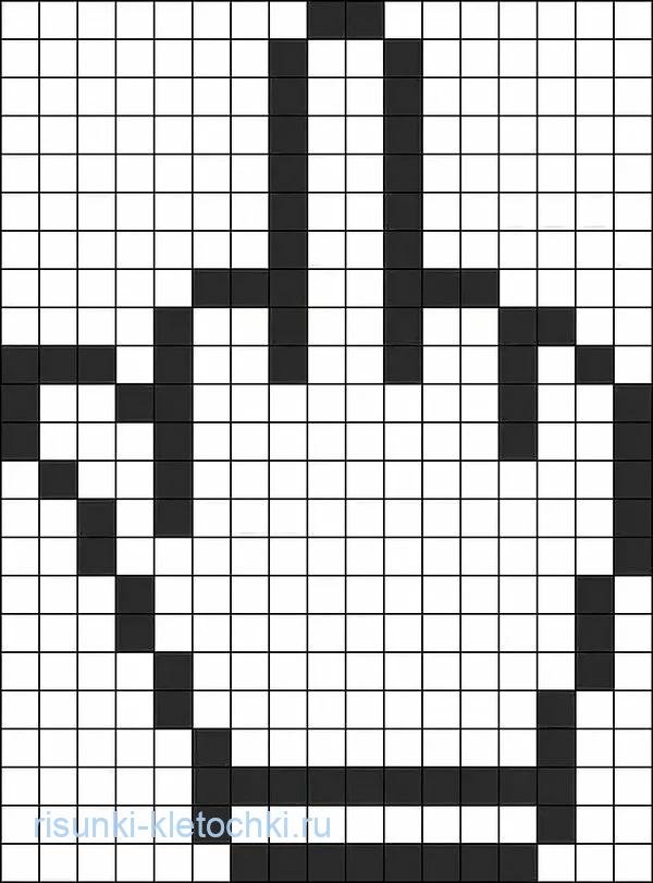 Рисунки по клеточкам черно-белые и маленькие - Факушка